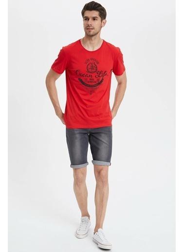 DeFacto Baskılı T-shirt Kırmızı